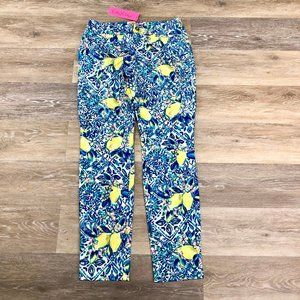 Lilly Pulitzer Kelly Skinny Pant Zest for Life NWT